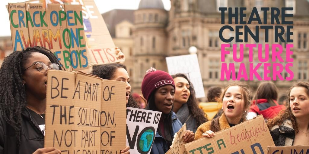 Group of young people protesting for future makers